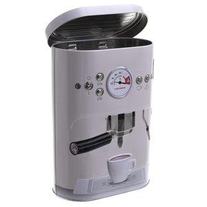 Espresso Recipient cu capac, Metal, Crem
