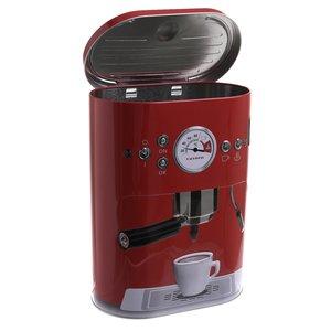 Espresso Cutie cafea cu capac, Metal, Rosu
