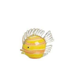 Figo Decoratiune prespapier, Sticla, Galben