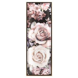 Flower Tablou trandafiri, Lemn, Multicolor