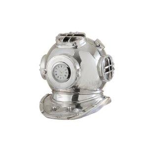 Helmet Decoratiune Ceas, Polirasina, Argintiu