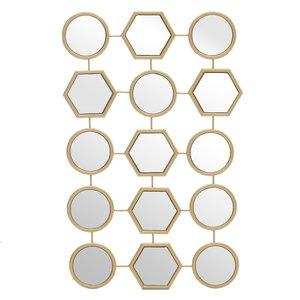 Honey Decoratiune perete oglinzi, Sticla, Auriu