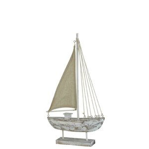 Jana Decoratiune barca mediu, Lemn, Alb
