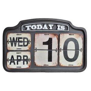 Jasim Calendar, Metal, Negru