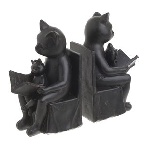 Kitty Set suport opritor carti pisici, Polirasina, Negru