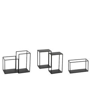 Kobe Raft modular perete, Metal, Negru