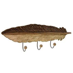 Leaf Cuier, Lemn, Bej