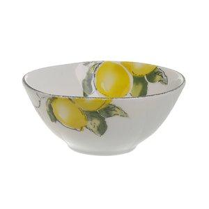 Lemon Set 6 boluri lamai, Ceramica, Alb