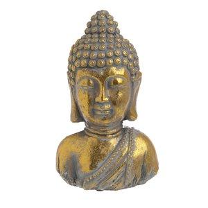 Lewys Statueta Buddha, Ciment, Auriu