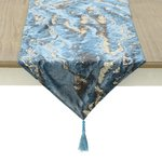 Marble Traversa masa, Textil, Albastru