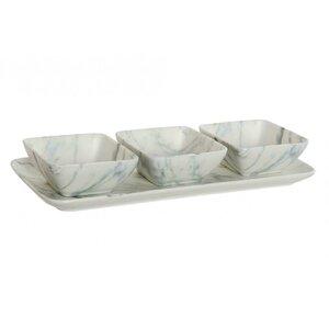 Mathew Set aperitive 4 piese, Ceramica, Alb