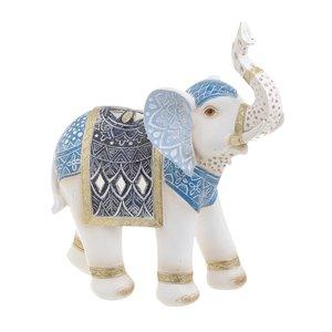 Mathias Decoratiune Elefant medie, Polirasina, Albastru