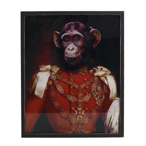 Monkey Tablou maimuta, Lemn, Multicolor