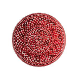 Mosaic Platou, Sticla, Rosu