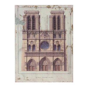 Notre Dame Tablou cladire, Lemn, Multicolor