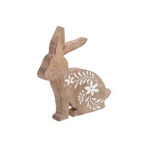 Oterin Decoratiune iepure, Lemn, Maro