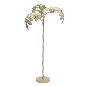 Palm Lampadar frunze, Metal, Auriu
