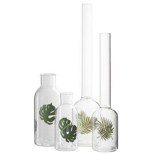 Palm Vaza frunze mare, Sticla, Transparent