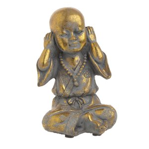Pedro Statueta Shaolin, Ciment, Auriu