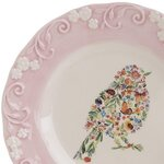 Pige Farfurie pasare, Ceramica, Multicolor