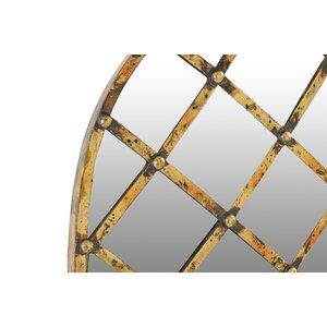 Pinamico Decoratiune perete oglinda, Sticla, Auriu