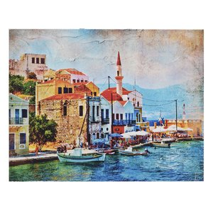 Port Tablou, Canvas, Multicolor