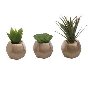 Recon Set 3 decoratiuni, Ceramica, Verde