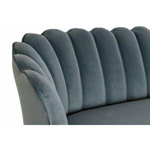 Renesmee Canapea 2 locuri, Textil, Albastru