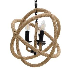 Rope Lustra, Metal, Bej