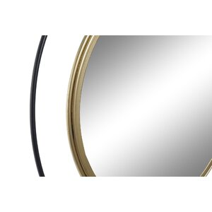 Salim Raft perete oglinda, Metal, Auriu