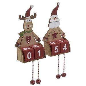 Set 2 decoratiuni Countdown Santa