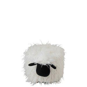 Sheep Taburet, Textil, Alb