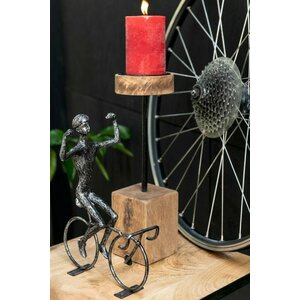 Shelly Decoratiune ciclist mica, Fier, Negru