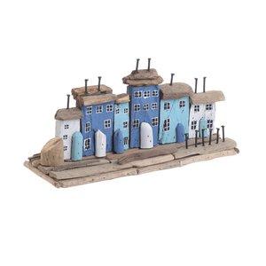 Smalville Decoratiune case, Lemn, Albastru