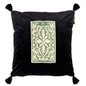 Spanish Embroidery Perna decorativa, Catifea, Galben