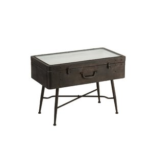 Suitcase Masuta cafea, Metal, Maro