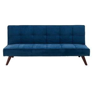 Sven Canapea Extensibila 3 locuri, Textil, Albastru