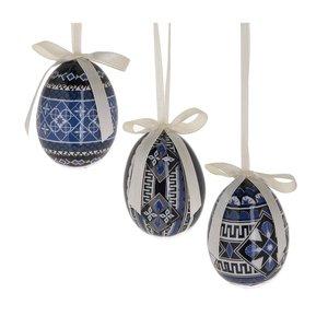 Tamer Set 12 decoratiuni suspendabile, Textil, Albastru