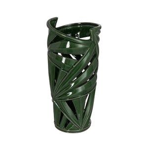 Tropics Tall Vaza, Ceramica, Verde