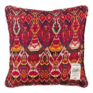 Uzbek Ikat Perna decorativa, In, Rosu