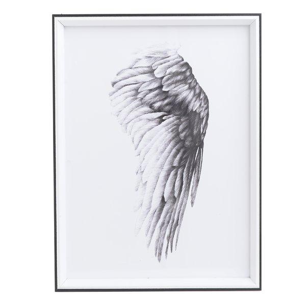 Wing Tablou, Lemn, Alb