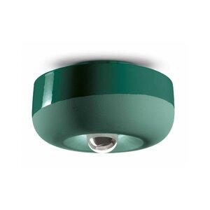 Yara Plafoniera, Ceramica, Verde