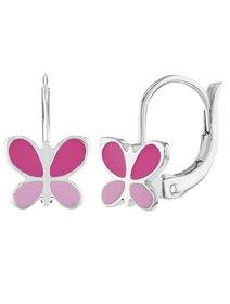 Bijuterii copii, set argint 925, Enamel Butterfly