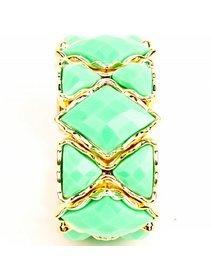 Bratara din plastic cu cristale fashion verzi