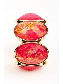 Bratara elastica cu pietre cu nuante de rosu
