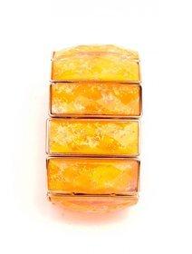 Bratara elastica cu pietre oranj