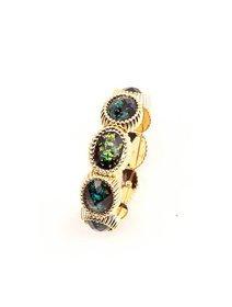 Bratara fashion, elastica, cu cristale multicolore