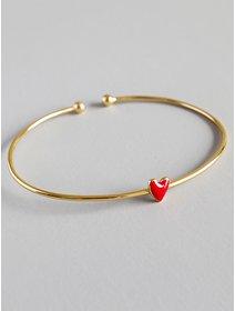 Bratara IJOO, din argint 925 placat cu aur, Red Heart