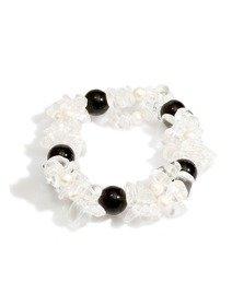 Bratara tripla cu agate, perle de cultura si cristale transparente