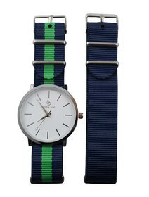Ceas Dama Crystal Blue - Two Straps